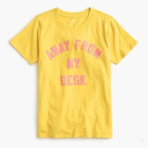 J Crew Away From My Desk Vintage Cotton T-Shirt
